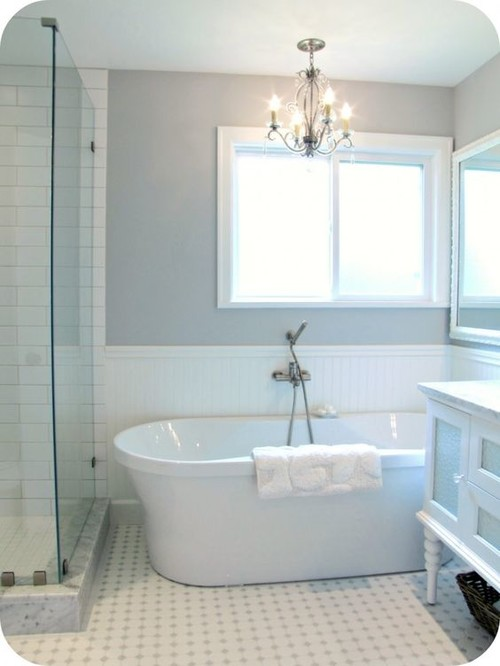Master Bathroom Remodel - Mixing Carrara Marble and Wood or Porcelain