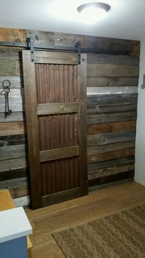 Barn Wood Accent Wall U0026 Barn Door.