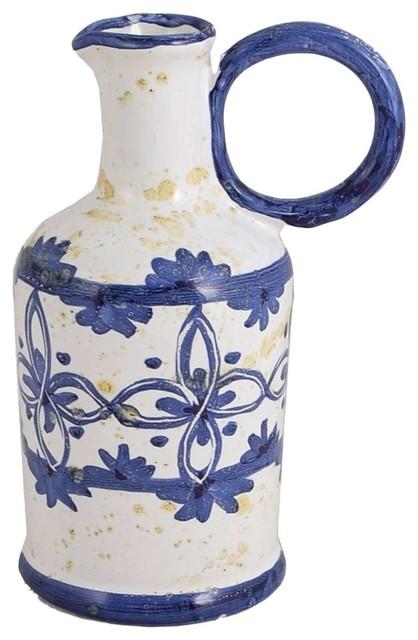 Pergola Organic Ceramic Oil Or Vinegar Bottle.