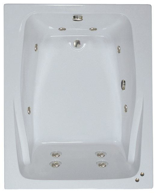 60 X48 Atticus Whirlpool Airbath Tub Contemporary Bathtubs By