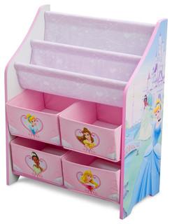 Children Pink Blue Disney Princess Book Amp Toy Multi Bin