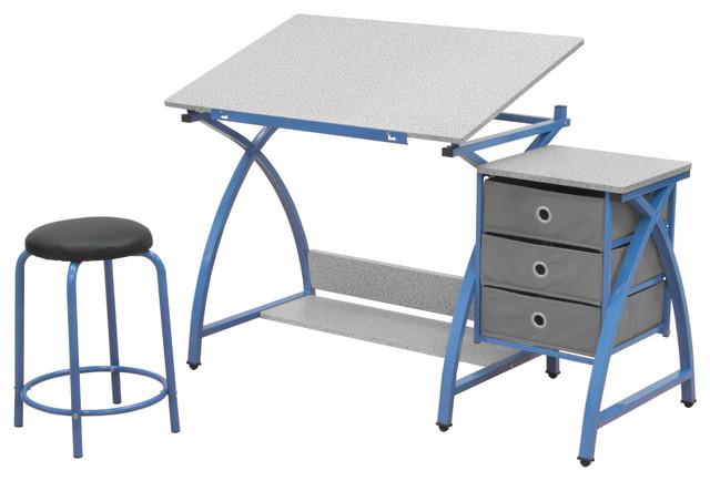 Adjustable Desk Center with Stool  Blue contemporary-kids-desks-and-desk  sc 1 st  Houzz & Comet Center With Stool - Contemporary - Kids Desks And Desk Sets ... islam-shia.org