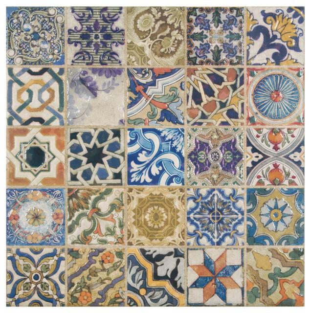 Azorin Arenal Decor Ceramic Floor And Wall Tile Sample Card 6x6