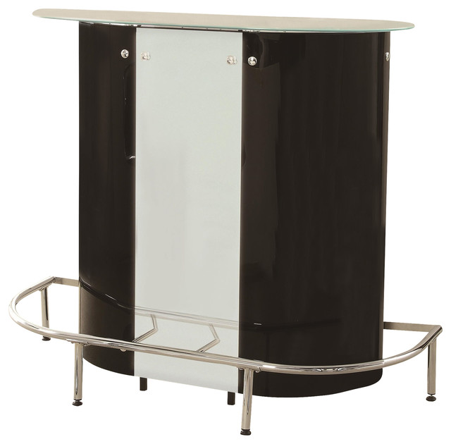 Coaster Home Black White Contemporary Wine And Bar Cabinets By Arcadian Home Lighting
