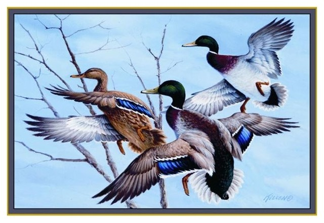 Mallard Duck Area Rug Rustic Area Rugs By Wildlife