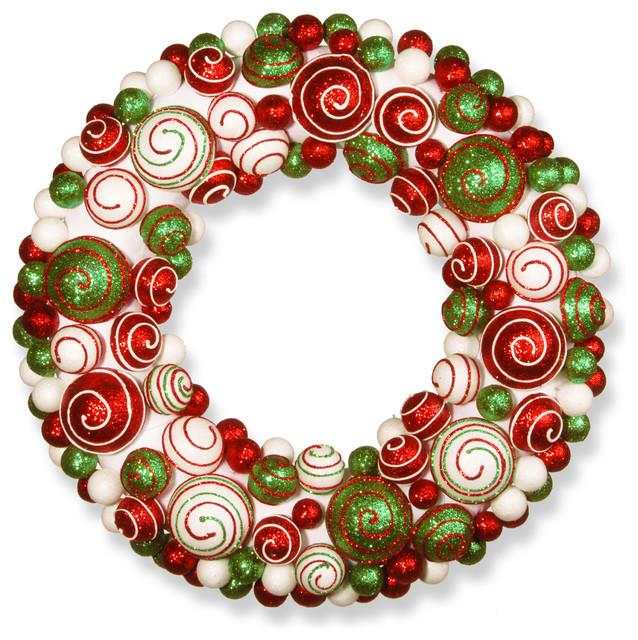 "20"" Ornament Wreath."