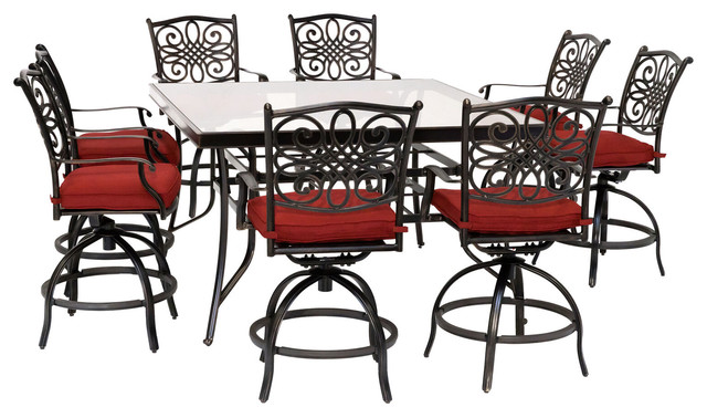 Traditions 9 Piece High Dining Set