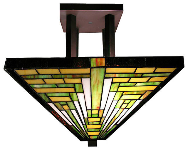 Miraculous Tiffany Style Frank Lloyd Wright Mission Ceiling Lamp Home Interior And Landscaping Ponolsignezvosmurscom
