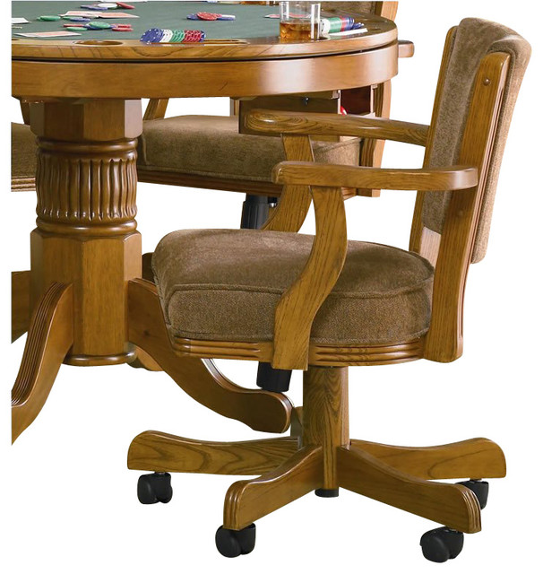 Coaster Mitchell Upholsted Arm Game Chair With Casters In