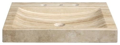 Stone Vanity Top And Integrated Bowl 24 Beige Travertine