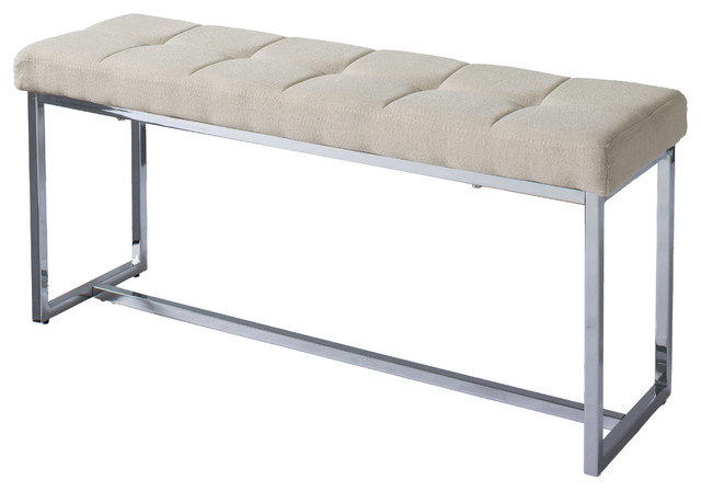 Corliving Corliving Huntington Modern Fabric Bench With