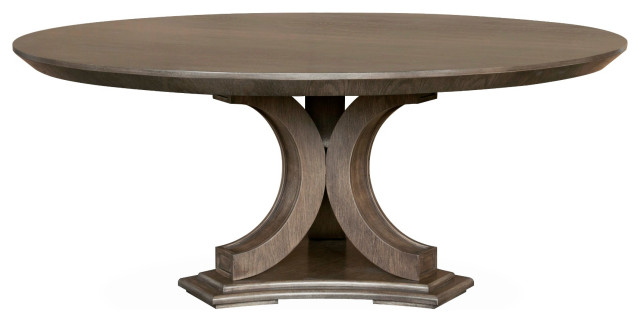 Morrison 72 Round Dining Table Smoke Grey Transitional Dining Tables By Furniturologie Inc