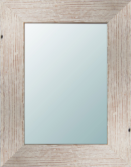 Wood Wall Mirror arianne light wooden mirror - beach style - wall mirrors -ptm