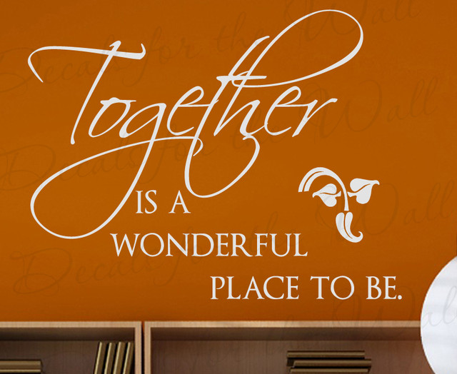 Decals For The Wall Wall Decal Quote Sticker Vinyl Art Together Is A Wonderful Place Family Love