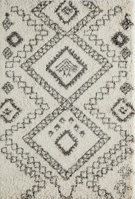 Maya 2 Thick Pile Berber Style Rug Ivory 7 10