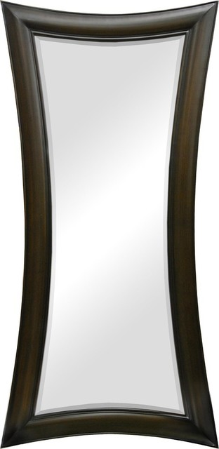 Evaline Antibes Leaner Mirror, Dark Walnut.