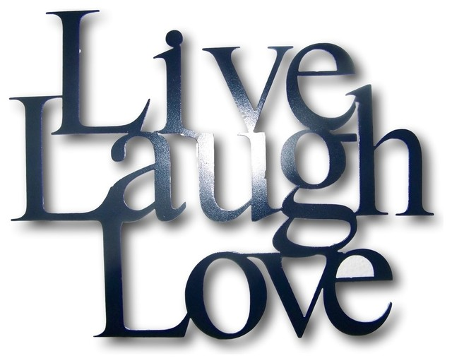 Metal Live Laugh Love Wall Hanging Decor 4 Sizes Available Traditional Metal Wall Art By Schares Metal Works