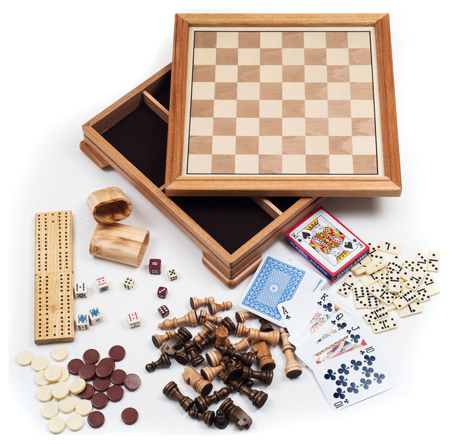 deluxe 7in1 game set chess checkers backgammon and more - Backgammon Game