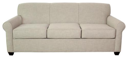 Finn Queen Sleeper Sofa, Hemp Intercect Pattern, BM Cherry Leg Finish