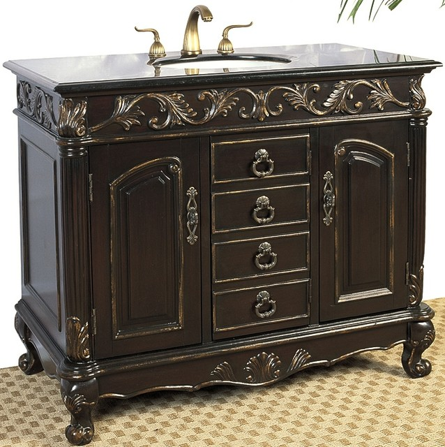 distressed bathroom cabinets style vanity in distressed espresso finish with 14843