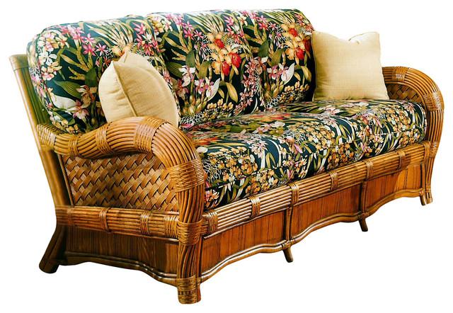 Kingston Reef Sofa In Cinnamon, Kabana Black Fabric