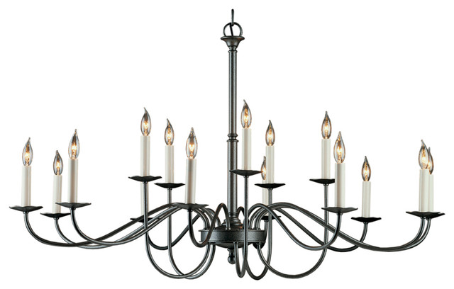 Hubbardton Forge 19204415lc 15 Light Simple Lines Large