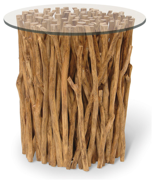 Palecek Driftwood Bundle Stick Side Table Transitional Tables And End By Seldens Furniture