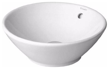 Duravit D0325420000 Bacino Vessel Style Bathroom Sink, White.