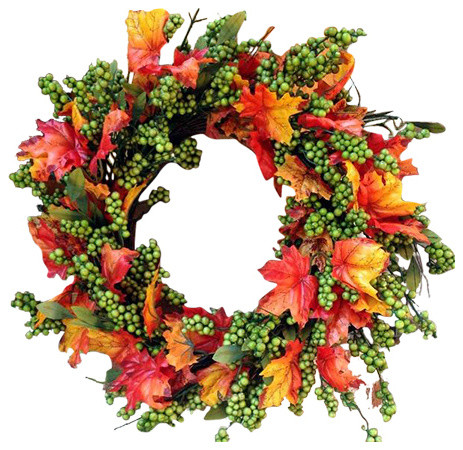 Green Apple Fall Wreath.