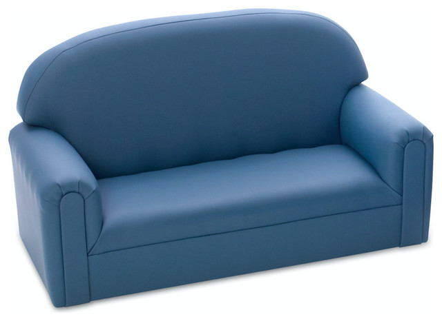 Brand New World Just Like Home Toddler Enviro Child Upholstery Blue Sofa