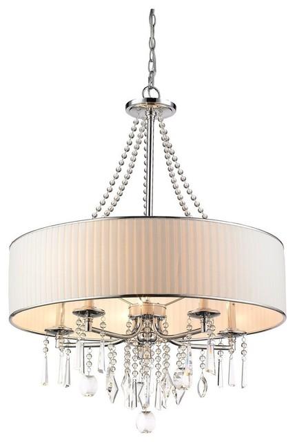 Luxury Crystal 5 Light Chandelier Pendant Lighting Fixture