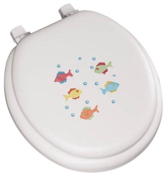 BEMIS MFG Toilet Seat Round Soft Fish Seats Houzz