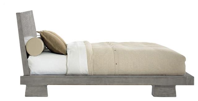 Hiro Platform Bed, Driftwood, Queen.