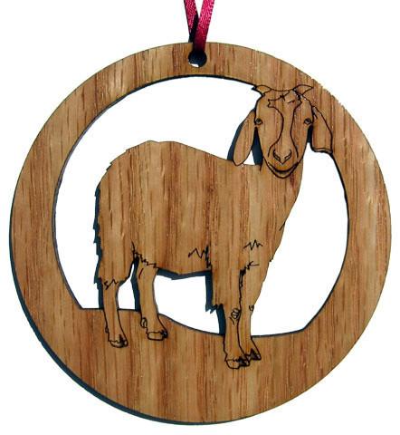 Goat Christmas Ornament.Goat Ornament