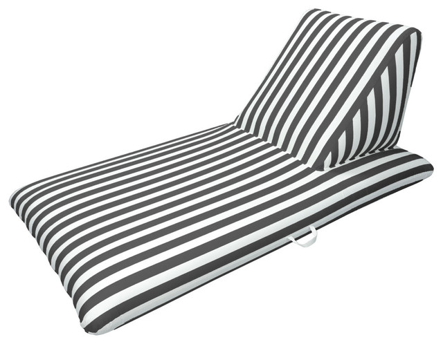 Pool Chaise Lounge, Black.