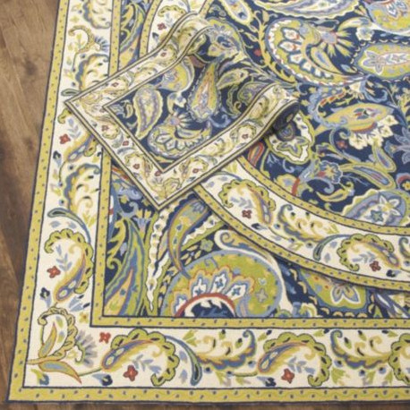 Where Can I Find The Rug That Is In Blue And Yellow On Left Side Of Page