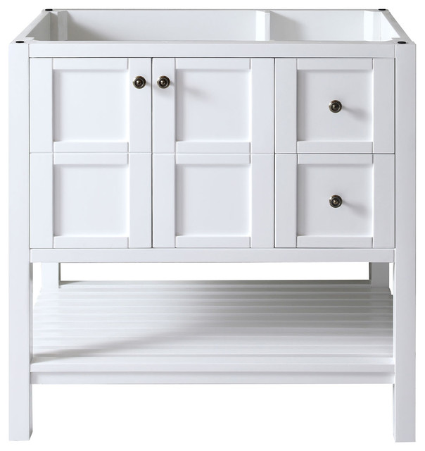 "Virtu Winterfell 36"" Cabinet Only, White."