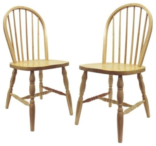 Set Of 2, Windsor Chairs Turn Legs, Assembled