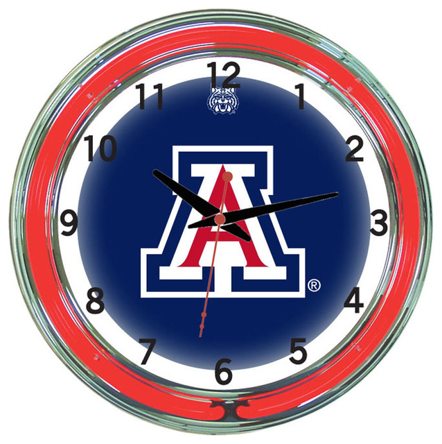 Wall Clocks With Neon Lights : Arizona Wildcats 18