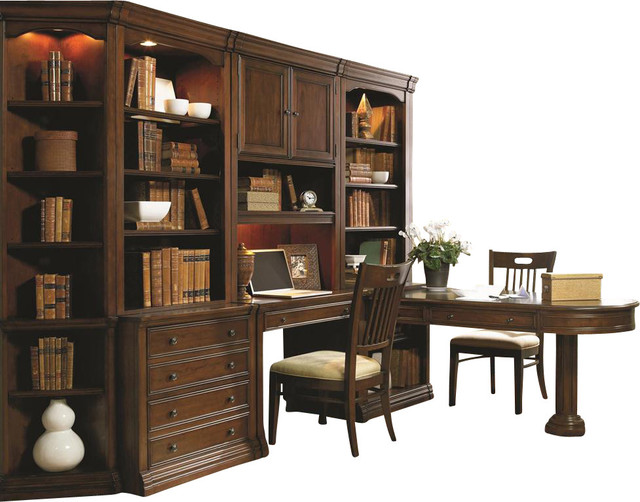Hooker Furniture Cherry Creek Partner S Desk Peninsula Traditional Desks And Hutches By