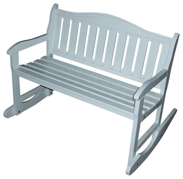 Genial Garden Bench Rocker, Berry Blue Outdoor Benches