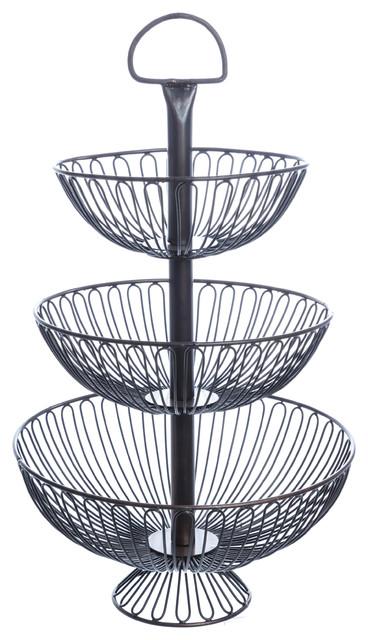3-Tier Decorative Wire Basket Stand, 24\
