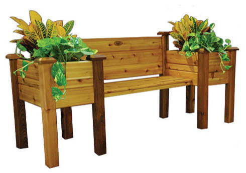 Gronomics Planter Bench 24 X 82 X 36 Two Boxes