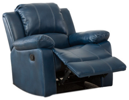 Strange Comfort Pointe Clifton Leather Gel Recliner Navy Blue Gmtry Best Dining Table And Chair Ideas Images Gmtryco