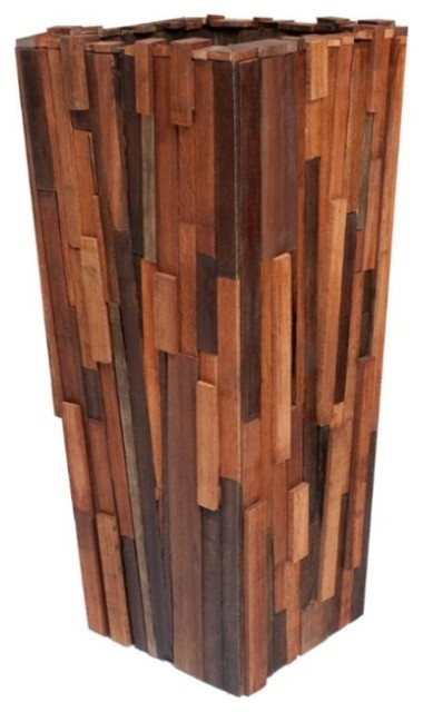 Salvaged Wood Planter Contemporary Indoor Pots And