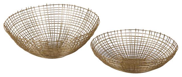 Gold 2-Piece Basket Set