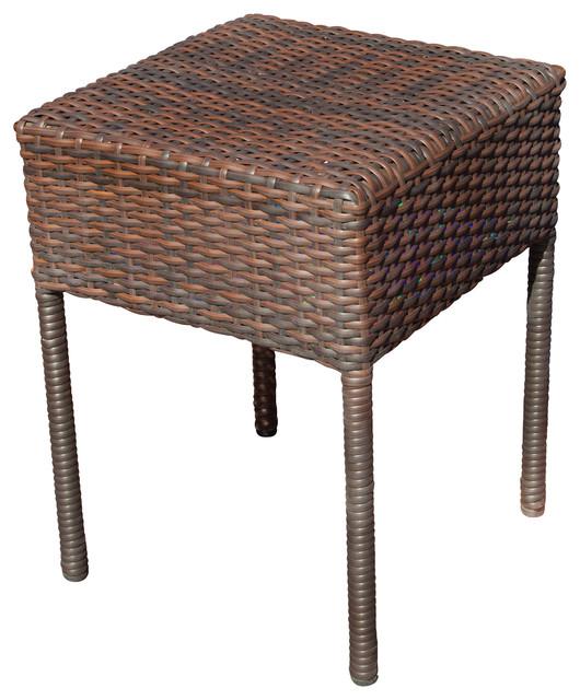 Edgar Outdoor Wicker Side Table Contemporary