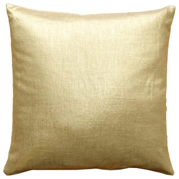 abf888df21a Pillow Decor - Tuscany Linen Metallic Throw Pillow - Contemporary ...