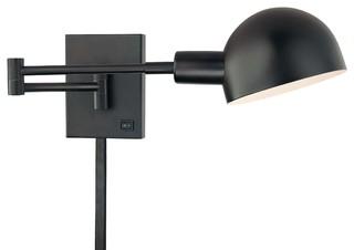 Industrial Swing Arm Wall Lights : 1-Light Swing Arm Wall Lamp - Contemporary - Swing Arm Wall Lamps - by LBC Lighting