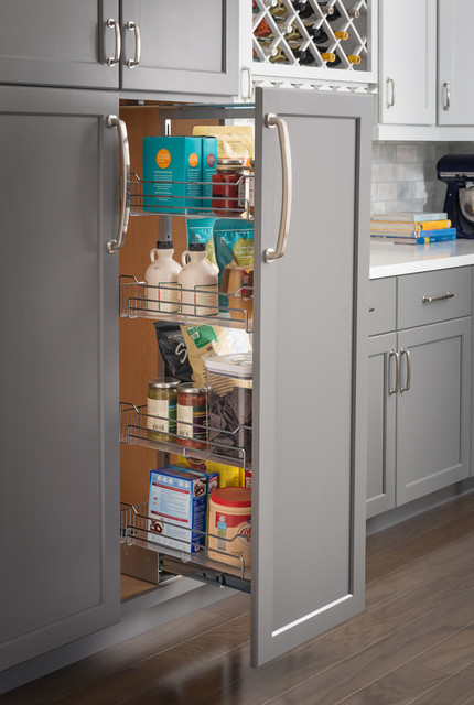 Base Cabinet Hardware Resources MPLO215-R Cookware Lid Pullout Organizer for 15 in